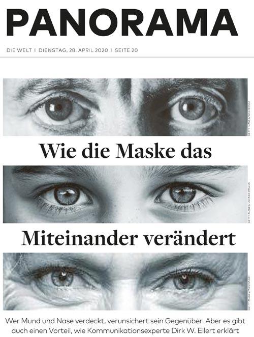 Wie die Maske das Miteinander verändert - die Welt