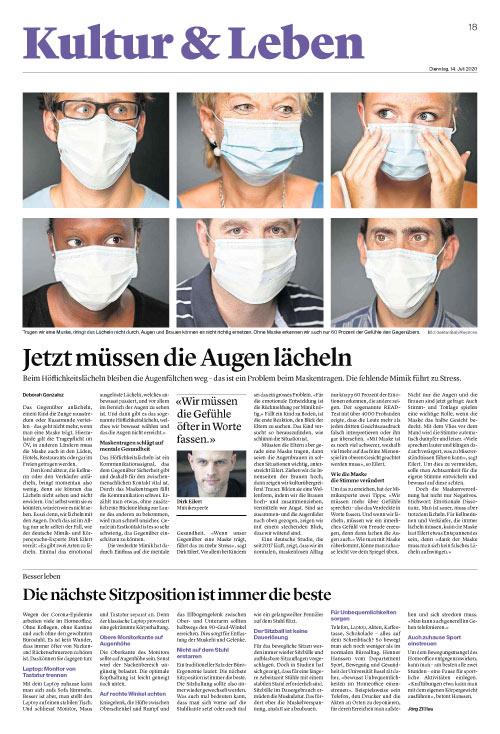 Jetzt müssen die Augen lächeln Aargauer Zeitung (Schweiz)